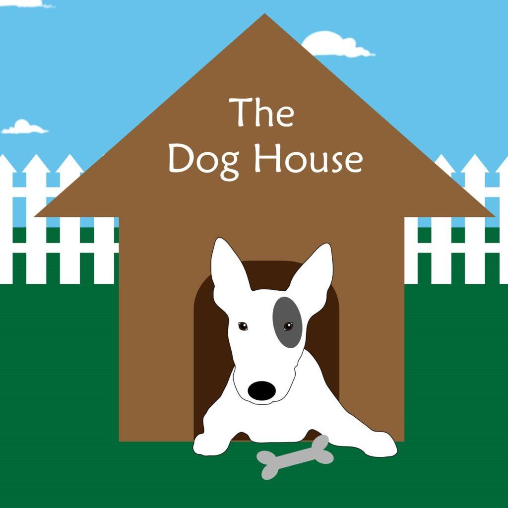 dog house cartoon square